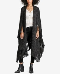 Denim And Supply Ralph Lauren Open Front Cardigan Charcoal Multi