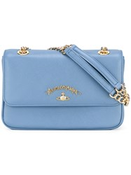 Vivienne Westwood Anglomania Flap Crossbody Bag Blue