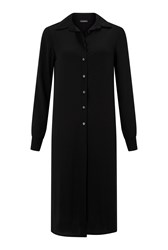James Lakeland Long Length Buttons Blouse Black