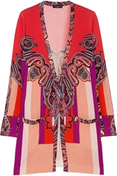 Etro Printed Silk And Cashmere Blend Cardigan