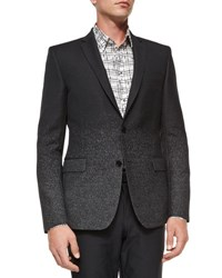 Versace Dotted Ombre Wool Evening Jacket Black