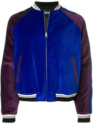 Just Cavalli Shooting Star Bomber Jacket Blue