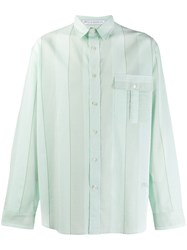 J.W.Anderson Jw Anderson Oversized Striped Shirt Green