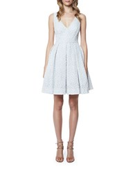 Erin Fetherston Coco Fit And Flare Dress Ivory Blue