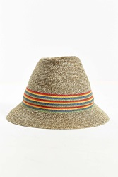 Urban Outfitters Straw Tall Crown Hat Tan