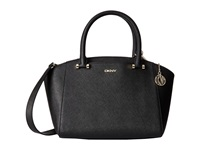 Dkny Bryant Park Saffiano Small Satchel W Det Shoulder Strap Black Satchel Handbags