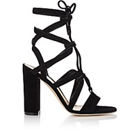 Gianvito Rossi Women's Lace Up Gladiator Sandals Black Blue Black Blue