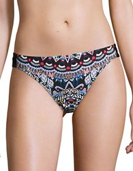 Laundry By Shelli Segal Printed Hipster Bikini Bottom Black