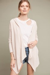 Anthropologie Hooded Thermal Cardigan Cream