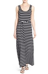 Women's Anne Klein Belted Stripe Knit Maxi Dress