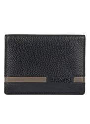 Dents Stripe Bi Fold Wallet Black