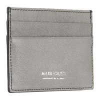 Mark Giusti Napa Printed Leather Credit Card Holder Grey And Navy