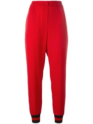 Philipp Plein Pineapple Jogging Trousers Red
