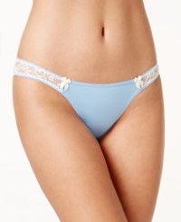 B.Tempt'd By Wacoal Most Desired Thong 976171 Placid Blue