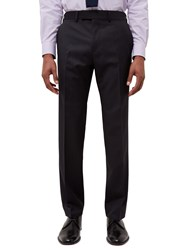 Jaeger Diamond Regular Fit Suit Trousers Charcoal