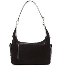 Isabel Marant Corte Day Suede And Leather Shoulder Bag Black