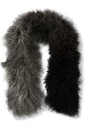 Karl Donoghue Ombre Shearling Scarf Gray