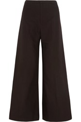 Isabel Marant Spanel Cotton And Linen Blend Wide Leg Pants Black