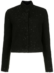 Spacenk Nk Sequin Cropped Jacket Black