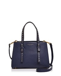 Marc Jacobs Mini T Leather Satchel Midnight Blue Gold