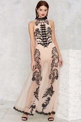 Nasty Gal Say My Name Embroidered Maxi Dress
