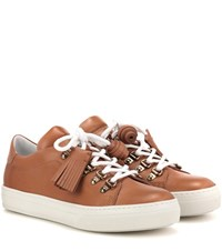 Tod's Sportivo Leather Sneakers Brown