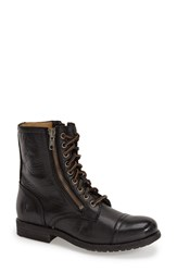 Women's Frye 'Tyler' Double Zip Military Boot Black Leather