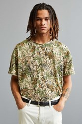 Feathers Heavyweight Slouch Fit Tee Green Multi