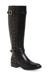 Vince Camuto Women's 'Preslen' Riding Boot Black Leather Wide Calf