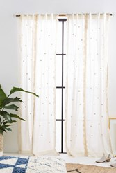 Anthropologie Embroidered Arya Curtain Cream