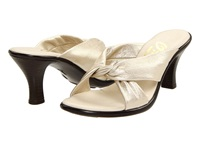 Onex Modest Platinum Leather Women's Dress Sandals Metallic