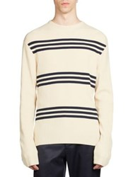 Acne Studios Ker Stripe Sweater Cream Navy