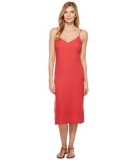 Splendid The Slip Dress Cape Red Women's Dress