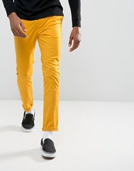 Asos Skinny Chinos In Yellow Coleman