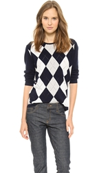 6397 Argyle Crewneck Sweater Navy
