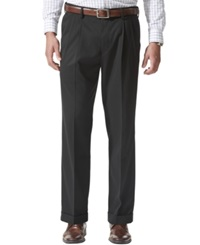 Dockers D4 Relaxed Fit Comfort Khaki Pleated Pants Black Metal