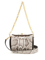 Alexander Mcqueen Box 16 Python Shoulder Bag White Multi