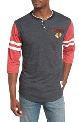 Mitchell And Ness Men's Home Stretch Chicago Blackhawks Henley