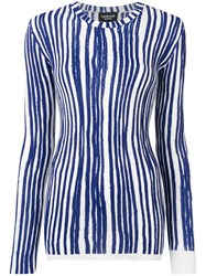 Calvin Klein 205W39nyc Striped Knitted Jumper Blue