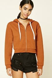 Forever 21 Fleece Lined Zip Up Hoodie
