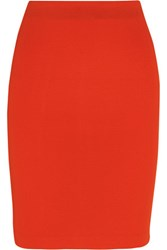 Mcq By Alexander Mcqueen Stretch Jersey Skirt Red