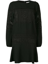 Red Valentino Lace Embroidered Dress Black