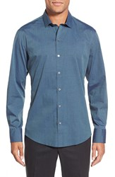 Zachary Prell 'Tom' Regular Fit Long Sleeve Sport Shirt Navy