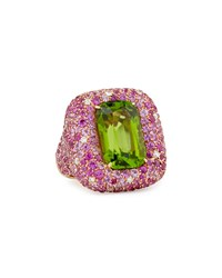 Pink Sapphire And Diamond Peridot Ring Neiman Marcus Blue