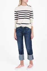 Mih Jeans The Phoebe Folded Cuff Navy