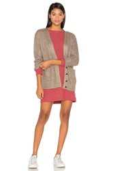 Obey Barnette Cardigan Taupe