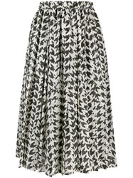 Sara Lanzi Pleated Midi Skirt Black