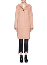 Alexander Wang Felted Wool Long Car Coat Pink