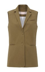 Anna Sammarone Military Waist Coat Green