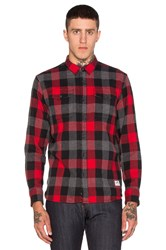 Penfield Chatham Check Button Up Red